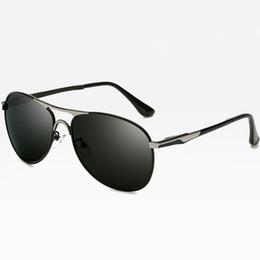 Polarized Metal Sunglasses NZ - Classic polarized sunglasses For Men Retro Pilot Glasses Color Polaroid lenses Driving Men brand designer Metal Polarized sunglasses Vintage