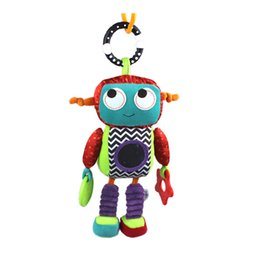 $enCountryForm.capitalKeyWord Canada - Sozzy Baby Plush Mobile Musical Rattle Toys Robot Style Baby Handing Toys for Newborn 0-12 month Early Educational Toys Doll