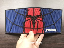 avengers dresses NZ - Hot Spider-man Short Wallet Avengers Anime Purse carteira masculina Dollar Price Card Money Bags Captain America PVC Men Wallets