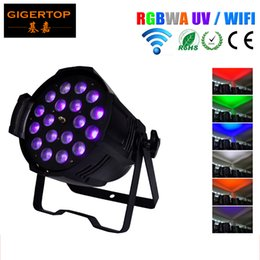 auto remotes Canada - TIPTOP TP-P80B Remote Control 18x18W Led Par Light RGBW Amber UV 6in1Wireless DMX 512 LED Up Light - Wedding - Wireless Led Stage Light