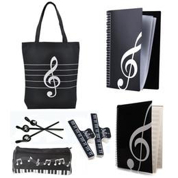 $enCountryForm.capitalKeyWord Canada - New Music Art Students Study Set Music Stationery Set School Study Set With Large Capacity Bag Black 6 Kinds