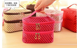 $enCountryForm.capitalKeyWord NZ - New Arrival dot cosmetic makeup bags cases boxes cheap Womens Makeup bags large capacity portable storage travel make up bags cases