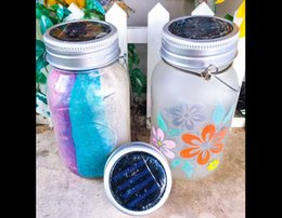 $enCountryForm.capitalKeyWord Canada - 1Pc New Solar Mason Jar color changing LED Lids Path Lights DIY Ball Jars Wedding Lantern(including the battery)