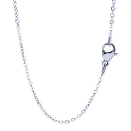 Cute long Chain neCklaCe online shopping - 100 Stainless Steel Necklace Cute O Rolo Chain Fashion Jewelry Factory Price Hot Sale Flat Cross Links Long Chain mm Inches