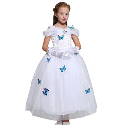 Chinese  Girls Cinderella Princess Dress New Sleeping Beauty Butterfly Cosplay Party Dress For Children Kids Easter Halloween Xmas Clothing PX-D23 manufacturers
