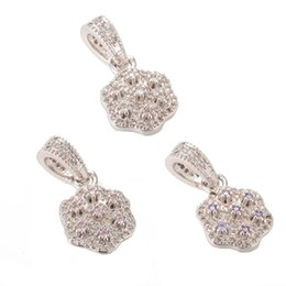 jewelry outlets Australia - Micro Pave Jewelry 21*11.7mm Fashion Luxury Pendant ICPS002 Silver Color CZ Pendant Nickel Free Lead Free Factory Outlet