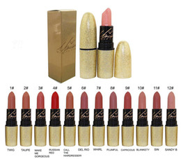 $enCountryForm.capitalKeyWord UK - 2017 Newest RIAH CAREY MATTE LIPSTICK Beauty Lipstick Collection 12 English Name colors Brand Lip Makeup With Silver box Free Shipping