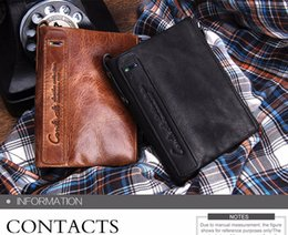 Horse credit card wallet online shopping - Men s wallet leather short section of the clutch fashion wallet mad horse leather double zipper wallet