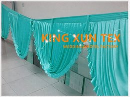 Wholesale Hot Sale Ice Silk Top Swag Drape Only Can Fit Table Skirt Backdrop Curtain And Other Wedding Decoration