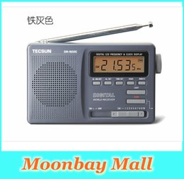 Wholesale HOT NEW Fashion TECSUN DR Transistor Radio FM MW SW Radio Receiver Digital Display With Built In Speaker