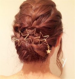 $enCountryForm.capitalKeyWord Canada - Fashion Women Girls Star Hair Clip Delicate Hair Pin Hair Decorations Jewelry