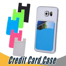 China Ultra-slim Self Adhesive Credit Card Wallet Card Set Card Holder Colorful Silicon For Smartphones For iPhone 7 6S Sumsung S8 suppliers