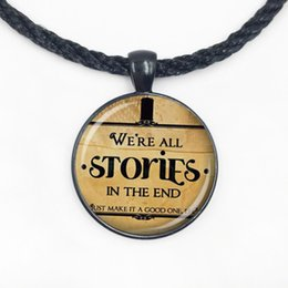 $enCountryForm.capitalKeyWord Canada - We Re All STORIES IN THE END Doctor Who Necklace Pendant Quote Jewelry Dr Who Gift Necklace New
