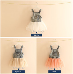 $enCountryForm.capitalKeyWord NZ - 2017 Fashion Baby Girl Denim Vestido Princess Tutu Dress 3 Colors White Pink Apricot Kid Clothing