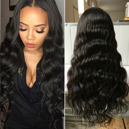 indian body wave lace front wig Canada - 100% Fast Shipping Human Hair Wigs Full Lace Human Hair Wigs For Black Women Body Wave Indian Hair Full Lace Front Wigs