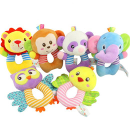 Wholesale monkey types for sale – custom HAPPY MONKEY baby toys O type bells early education puzzle plush toys baby hand bell WJ534
