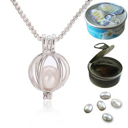 Pearl pendant mounts dhgate uk fashion oyster pearl bead locket cage pendant for jewelry bracelet necklace mounting free 18 inches venezia chain aloadofball Image collections
