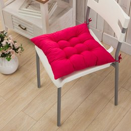Tatami Chairs Canada - Four seasons general grinding chair or Tatami mat thickening cushion microfibre solid color fabric beautiful buttock function 40*40cm