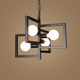 Hall Ceiling Light Canada - American chandelier ceiling light creative personality pendant lamp minimalist living room bedroom Nordic restaurant led retro Chandelier