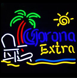 $enCountryForm.capitalKeyWord NZ - Fashion Handcraft Corona Extra Beach Chair Palm Tree Real Glass Beer Bar Pub Display neon sign 24x24!!!Best Offer!