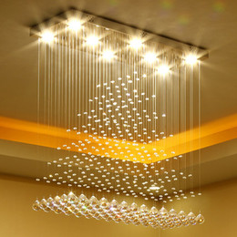 Dimmable Crystal Chandeliers High End K9 Ceiling Chandelier Lighting Pendant Lamp Dining Room Staircase Hotel