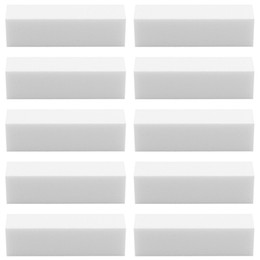 Trousses De Manucure Pas Cher-10pcs / lot White Acrylic Nail Art Tips Buffer Buffing Sanding Block Fichiers Manicure pédicure Care Tools Kit Set JKW0012