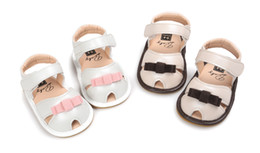 31f4682dbfcbe 3 pairs(can mix colors and sizes)Hot sale PU leather bow design baby girl  sandals Summer baby girl fist walkers Newborn shoes 2 colors