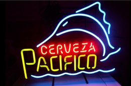 Discount pacifico neon signs Fashion New Handcraft Pacifico Swordfish Real Glass Beer Bar Display neon sign 19x15!!!Best Offer!