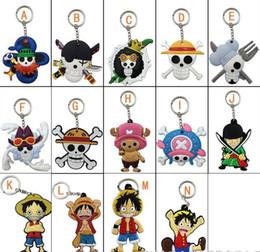 Discount one piece nico robin figures - 20pcs Mix One Piece soft Keychain choba Keychain Luffy chopper bag hanging buckle Roronoa Zoro Nami Usopp Sanji Nico Rob