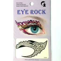 temporary eye shadow tattoos UK - 12pieces black temporary eye tattoo sticker free shipping mix 4 design eye rock left and right eye shadow