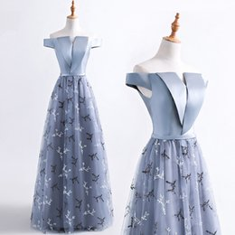 $enCountryForm.capitalKeyWord NZ - 2017 New Bateau Lace A Line Prom Dresses Satin Ruffle Floor Length Formal Party Evening Dresses