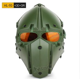 $enCountryForm.capitalKeyWord NZ - WOSPORT Hot New Tactical OBSIDIAN GREEN GOBL TERMINATOR Helmet & Mask goggle for Hunting Paintball Cosplay Movie Prop Dark green