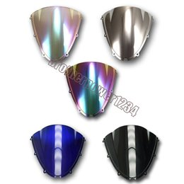 Discount zx6r windscreen - 6 Color Windshield Windscreen For Kawasaki Ninja ZX6R ZX636 05-08 Wholesale durable