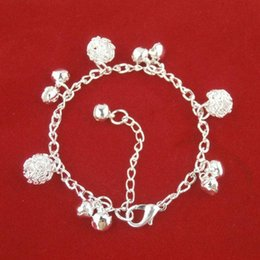 Bola Bell online shopping - 2017 Fashion Jewelry Silver Jingle Bell Charms Bracelets Bangles National Style Silver Chain Bola Bell Bracelet Anklet for Women