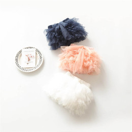 Jupes À Volants Pour Bébés Pas Cher-Ins 2017 Newborn Ruffle Shorts bowknot Infant Girls Tiered Tutu Jupes pantalons bébé Bloomers dentelle Summer Shorts Newborn Clothing A633
