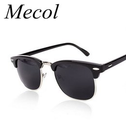 Chinese  Wholesale-Half Metal Sunglasses Men Women Brand Designer Inspired Club Elegant Star Master Mirror Sun Glasses Gafas Oculos De Sol UV400 manufacturers