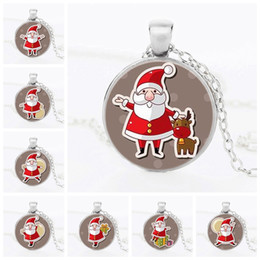 $enCountryForm.capitalKeyWord NZ - XS Children's Christmas Gift Gold & Silver & Black Santa Claus Ornaments Expression Time Ruby Pendant Necklace Wholesale