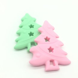 $enCountryForm.capitalKeyWord UK - 2017 10pcs Christmas Tree Teether Baby Silicone Teether BPA Free Food Grade Toys Silicone Teething Chewable Beads DIY Jewelry Making