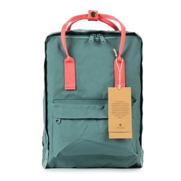 Al por mayor- 2017 Nueva mochila bolso de la escuela niñas doble hombro amantes de la lona ocio bolsa de viaje