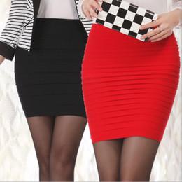 c167b8753e45d Falda lápiz Todo el emparejamiento de las mujeres más el tamaño de cintura  alta Delgado Caderas Color del caramelo Formal Saias Feminino Señora  Classic ...
