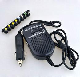 Universel DC 80W Car Auto Chargeur Adaptateur D'alimentation Ensemble Pour Ordinateur Portable avec 8 fiches détachables Livraison Gratuite En Gros 50pcs / lot