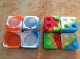 $enCountryForm.capitalKeyWord NZ - Colorful 7ml square silicon box non-stick container wax box dab wax jar dry herb vaporizer box silicone wax Vapor dabber jar
