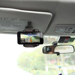 Großhandels-Autotelefon-Halter für iPhone Samsung für GPS PDA MP4 Kamera-Digital-DVR-Handy-Standplatz-Halter-Sonnenblende-Berg-Klipp