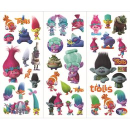 Discount school scrapbook stickers - Trolls Poppy Sticker 3D Cartoon Pattern Children School Reward Wall Desk Stickers Scrapbook Children Toys Sticker kids G