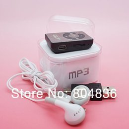 Music box voice recorder online shopping - Hot Sell Mini Mirror Clip MP3 Music Player Gift MP3 Support Micro SD TF Card Wiht Earphone Mini USB Box