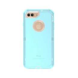 Wholesale Shiny Clear Defender Case for iPhone Plus S Plus Dual Layer Protection Covers With Belt Clip Hard PC Shell Soft TPU Back Cover