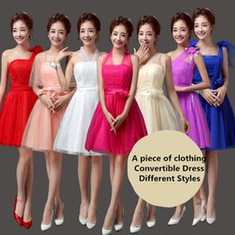 Wholesale 2018 New Short Bridesmaid Dresses Women Wedding Prom Party Elegant Evening Gowns Beautiful Cheap Dresses Different Styles