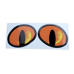 Car Eyes Sticker UK - Pair 3D Cat Eyes Simulation Decal Sticker For Car Truck Vehicle Window Wall Decor