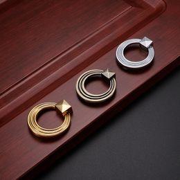 $enCountryForm.capitalKeyWord NZ - 2017 European Zinc Alloy Ancient Bronze Golden Silver vintage carving bronze door knob cabinet Ring handles kitchen drawer pull #498