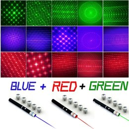 $enCountryForm.capitalKeyWord Canada - Powerful 5mw 6 in 1 Green Blue Red Laser Pointer Beam Light Lazer Pen 5 Caps 405NM-650NM Free Shipping